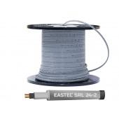Греющий кабель саморегулирующийся без экрана для водопровода EASTEC SRL 24-2, 24 вт/м
