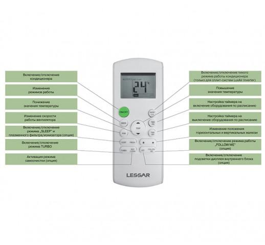 Инверторная сплит-система Lessar серии Inverto LS-HE24KLA2A / LU-HE24KLA2A